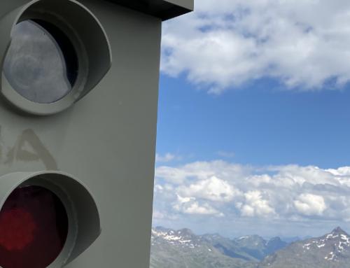 Die Fotobox-Radarfalle in Sölden in Österreich
